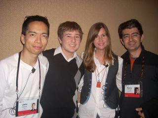 John Maeda, cancer survivor Taylor Carol, Pam and Pierre Omidyar